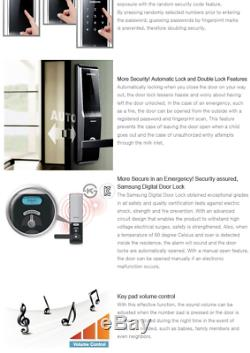 Nouveau Samsung Shs-h700fmk D'empreintes Digitales Sans Clé Smart Touch Numérique De Verrouillage De Porte