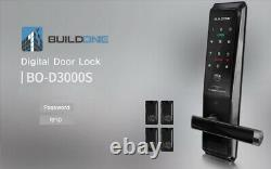 Nouveau Smart Digital Doorlock Buildone Bo-d3000s Keyless Lock Passcode+rfid 2way
