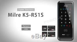 Nouveau Smart-k5 Milre Serrure R51s Numérique De Verrouillage De Porte Sans Clé Rfid + Entrée Passcode