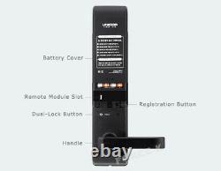 Nouveau Unicor Un-9050s Keyless Lock Smart Digital Doorlock Mortise Passcode+4 Rfid