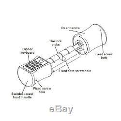 Numérique Intelligent D'empreintes Digitales De Verrouillage De Porte De Verrouillage Sans Clé Tactile Clavier Mot De Passe Pour La Maison
