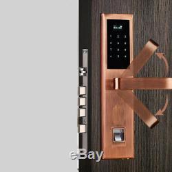 Numérique Intelligent D'empreintes Digitales Sans Clé Tactile Serrure Passe Code De Verrouillage Cuivre