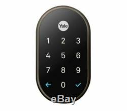 Ob Nest X Yale Smart Lock Door Lock Bronze Huilé Avec Connect Sans Clé