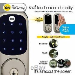Pêne Dormant À Écran Tactile Sans Clé Real Living Avec Serrure De Porte Éclairée Z-wave Smart Home
