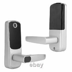 Poignée De Verrouillage De Porte Intelligente Empreinte Digitale+mot De Passe+bluetooth + Padlock Sans Clé Rfid