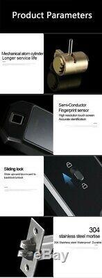 Porte D'empreintes Digitales Smart Lock Biométrique Électronique Mot De Passe Carte Padlock Sans Clé