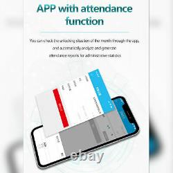 Porte En Verre Smart Electronic Lock Empreinte De Doigt App Mot De Passe Carte IC Nfc Keyless