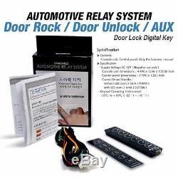 Porte Tactile Numérique Smart Key Verrouillage Déverrouillage Aux Relais Kit Sans Clé Pour Cadillac