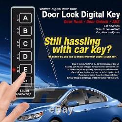 Porte Tactile Numérique Smart Key Verrouillage Déverrouillage Aux Relais Kit Sans Clé Pour Toyota