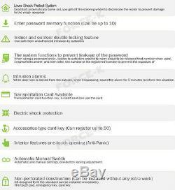 Ramax Numérique Intelligent N-650l Serrure Sans Clé Verrouillage Passcode + Rfid + Mécanique Clé