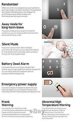 Samsung Ezon Smart Digital Serrure De Porte Shs-1321 Sans Clé Black 4ea Touch Keys