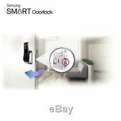 Samsung Sans Clé Intelligent Serrure Numérique Push & Pull Shp-p520 + 2 Express Porte-clés