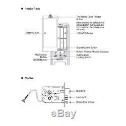 Samsung Sds Shs-dp820 Push Pull Poignée Sans Clé Numérique Intelligent De Verrouillage De Porte Mortaise