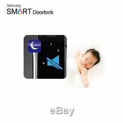 Samsung Serrure De Porte Numérique Intelligente Sans Clé Push & Pull Shp-p520 + 2 Porte-clés Express
