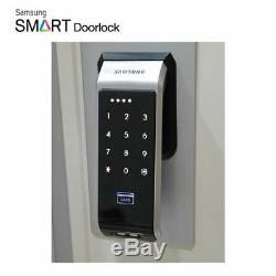 Samsung Serrure De Porte Numérique Intelligente Sans Clé Push & Pull Shs-p510 + 4 Porte-clés Express