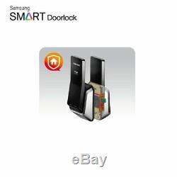 Samsung Serrure De Porte Numérique Intelligente Sans Clé Push & Pull Shs-p520 + 2 Porte-clés Express