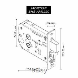 Samsung Shs-p710 Key Less Serrure De Porte Numérique Intelligente Push Pull Avec Porte-clés 2ea