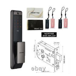 Samsung Smart Empreintes Digitales Verrou Sans Clé Dp960 Push-pull Verrou +6 Clés D'étiquette Dhl