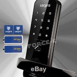 Sans Clé De Verrouillage Locpro C150 Numérique Intelligent De Sécurité Serrure D'entrée + 4 Passcode Rfid