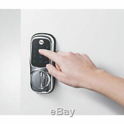 Sans Clé Yale Connected Intelligent De Verrouillage De Porte Poli Chrome Écran Tactile Rétro-éclairé