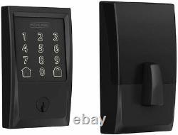 Schlage Encode Smart Wi-fi Keyless Entry Deadbolt Lock Avec Century Trim Black