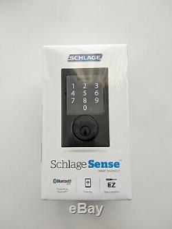 Schlage Sense Smart Lock Bluetooth Deadbolt Apple Iphone Accueil Kit Sans Clé Noir