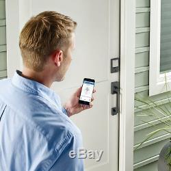 Schlage Sense Smart Lock Pêne Dormant Bluetooth Apple Iphone Kit Domicile Avec Kit Noir Sans Clé