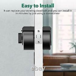 Securam Touch Smart Lock Deadbolt Verrouillage De Porte Sans Clé Avec Empreinte De Doigt Vers
