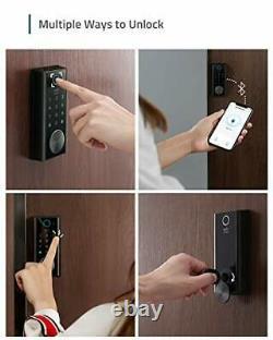 Sécurité D'eufy Smart Lock Touch Fingerprint Scanner Porte D'entrée Sans Clé Bl