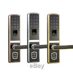 Sécurité De La Maison Intelligente Sans Clé De Mot De Passe D'empreinte Digitale D'écran Tactile De Serrure De Porte De Digital