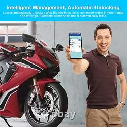 Serrure De Frein À Disque, Verrure D'alarme De Vélo De Moto, Smart Bluetooth App Keyless MM