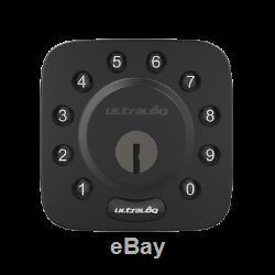 Serrure De Porte À Pêne Dormant Avec Clavier Sans Clé Bluetooth Ultaloq U-bolt Smart, Noir