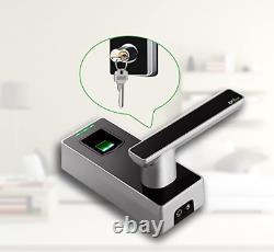 Serrure De Porte D'empreinte Digitale Avec Serrure Biométrique Bluetooth De Levier, Smart Numérique Sans Clé