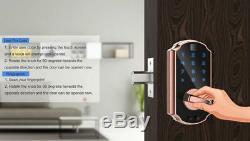 Serrure De Porte D'empreinte Digitale, Serrure Intelligente De Serrure De Porte Numérique De Clavier Tactile De Serrure