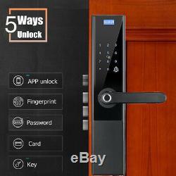 Serrure De Porte Électronique Intelligente D'empreinte Digitale Intelligente Keyless Intelligent Touch 5-way