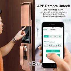 Serrure De Porte Intelligente De Sécurité D'empreinte Digitale Électrique Touchsreen Passwordless Bronze