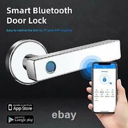 Serrure De Porte Intelligente, Poignée Biométrique De Porte D'entrée Sans Clé, Application Bluetooth Wifi