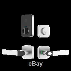 Serrure De Porte Intelligente Sans Clé Bluetooth Ultraloq Combo Avec Empreinte Digitale, Nickel Satiné