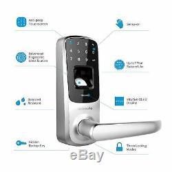 Serrure De Porte Numérique Ultraloq Ul3 Smart À Empreinte Digitale Intelligente + Plaque De Recouvrement À Pêne Dormant