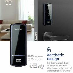 Serrure De Porte Samsung Ezon Smart Shs-1321 Rim Deadbolt À Écran Tactile Sans Clé