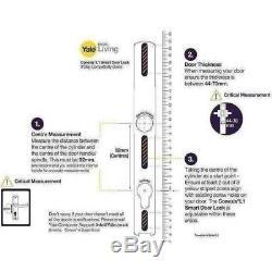 Serrure De Porte Sans Clé Bluetooth Avec Poignée De Sécurité Chromée Yale Conexis L1 Smart
