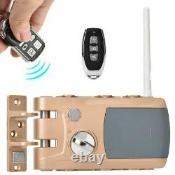 Serrure De Porte Smart Keyless Serrure De Porte Avec 4 Contrôleurs À Distance Sécurité À La Maison