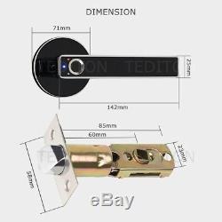 Serrure Électronique Biométrique D'empreinte Digitale Intelligente De Serrure Sans Clé De Maison Intelligente De Porte