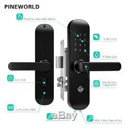 Serrure Intelligente D'empreinte Digitale D'écran Tactile De Pineworld, Porte Électronique D'entrée Sans Clé Q202