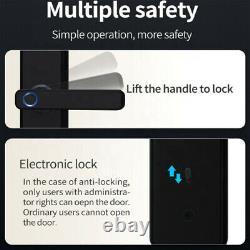 Serrure Intelligente Empreinte De Porte Verrouillage Électronique Numérique De Contrôle D'entrée Keyless X7