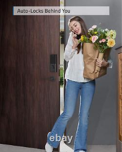 Serrure Intelligente Eufy Security Avec Serrure De Porte D'entrée Sans Clé De Pont Wi-fi Avec Wi-fi