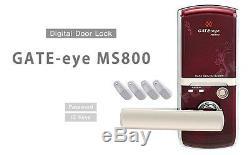 Serrure Sans Clé Gate-eye Ms800 Numérique Entrée Intelligente Pour Serrure 2 Touches À Code Et À Clé