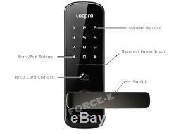 Serrure Sans Clé Locpro C150 Smart Digital Door Security Security Passcode + 4 Rfid