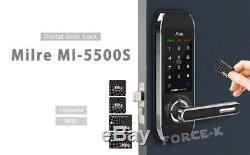 Serrure Sans Clé Milre Mi-5500s Serrure Numérique Entrée De Sécurité Intelligente Passcode + Rfid