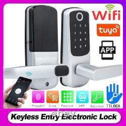 Smart Biometric Fingerprint Handle Door Lock Keyless Wifi Tuyaapp Keys IC Card